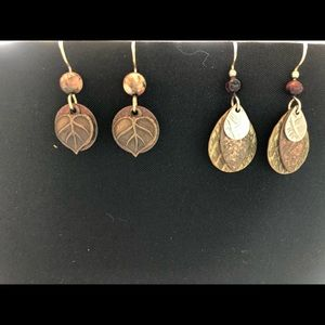 Jewelry - Two pair of autumn earrings